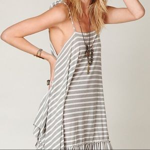 Free People Beach Tank Midi Dress Striped XS